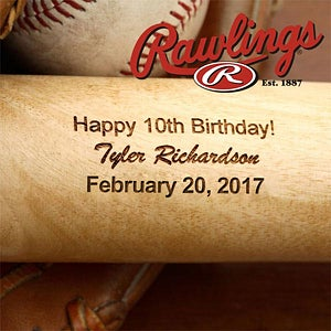 Personalized Birthday Wooden Baseball Bat - 2888