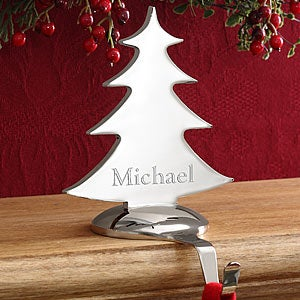 Engraved Nickel-Plate Stocking Holders - 2945
