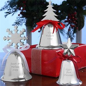 Silver Holiday Keepsake Bells