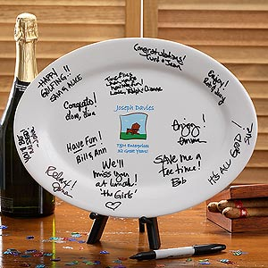 Personalized Retirement Signature Platter - 2960
