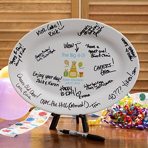 Personalized Birthday Signature Platter - 2961