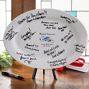 Personalized Graduation Signature Platter Keepsake - 2962