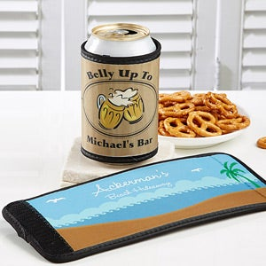 Personalized Can and Bottle Huggies In Party Time Design - 2993