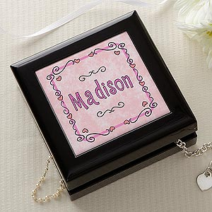 Personalization Mall Personalized Jewelry Box - Pretty In Pink With Name at Sears.com