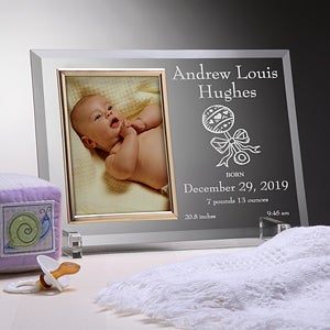 Personalized birth announcement glass baby picture frame personalized birth announcement glass baby picture frame 3084 negle Image collections