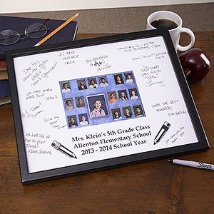 Personalized Class Portrait Signature Mat Frame - 3161