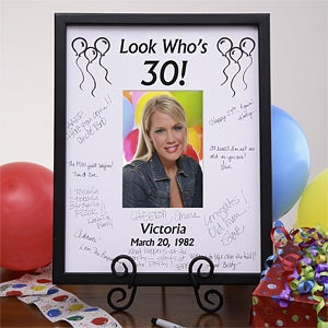 Personalized Birthday Signature Mat Frame - Birthday Wishes Design - 3163