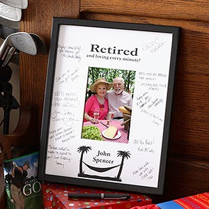 Personalized Retirement Signature Mat Frame - 3164