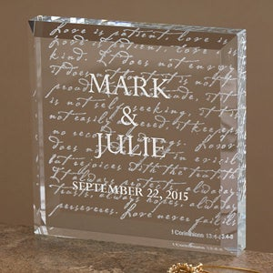 Personalized Romantic Gifts - Love Is Patient 3-D Keepsake Sculpture - 3193