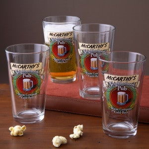 Personalized Pub Glasses and Pitcher Set - Neighborhood Pub - 3256D
