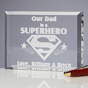 Personalized Sculpture for Dad - Dad Is A Superhero Message - 3260