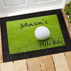 Personalized Custom Doormat - 19th Hole Golf Design - 3272