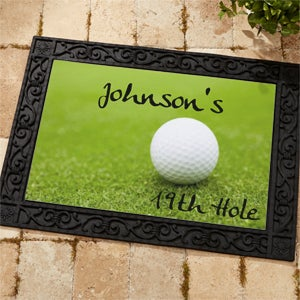 Personalized Custom Doormat - 19th Hole Golf Design - 3272