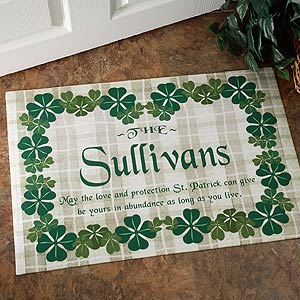 Personalized Irish Family Name Custom Doormat - 3277
