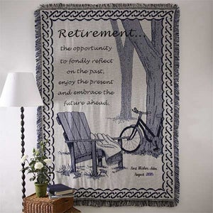 Personalized Retirement Blanket Gift - Embrace the Future Design - 3294