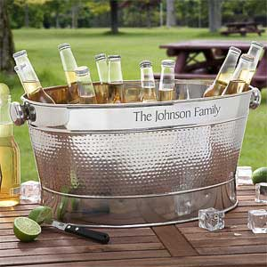 Engraved Stainless Steel Outdoor Cooler Tub - 3305