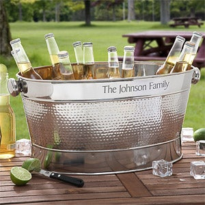 Engraved Stainless Steel Outdoor Cooler Tub For The Home