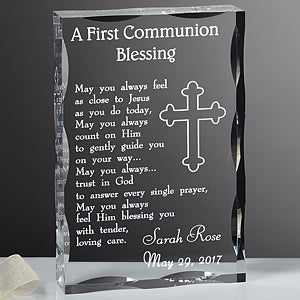 Personalized First Communion Blessing Keepsake Sculpture - 3358
