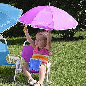 Personalized Child Beach Chair And Umbrella Set - 3385