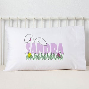 Custom Personalized Easter Pillowcase - Ears To You Design - 3387
