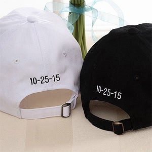 Bride and Groom baseball hats
