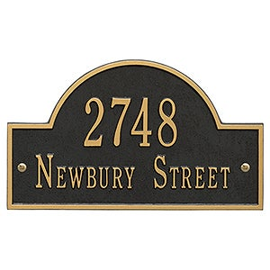 Custom Home Address Plaque - Metal - 3400D