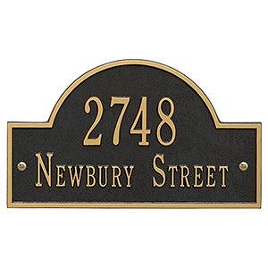 Custom Home Address Plaque - Metal - 3400D