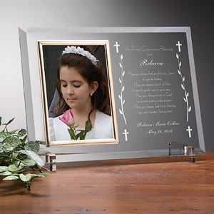 Personalized First Communion Glass Picture Frame - 3417