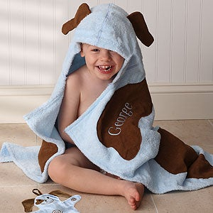 Personalized Hooded Terry Towel With Mitt - 3426