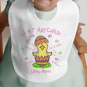 Personalization Mall Personalized First Easter Chick Baby Bib- Just Hatched Design at Sears.com