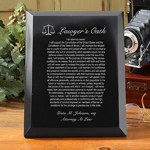 Engraved Marble Plaque - Lawyer's Oath - 3450