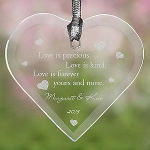 Love Is Precious Christmas Ornament