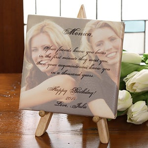 Personalized Friendship Picture and Poem Canvas Art - 3474
