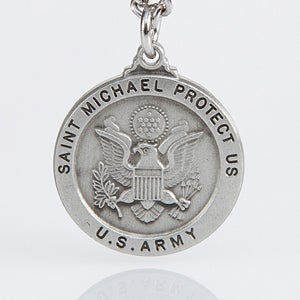 Personalized St. Michael Military Medallion Pendant - 3529