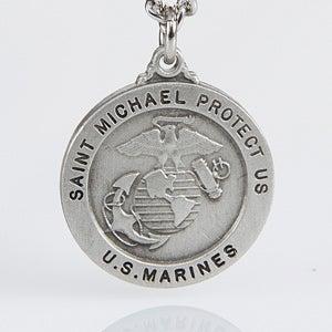 Personalized St. Michael Military Medallion Pendant - 3529