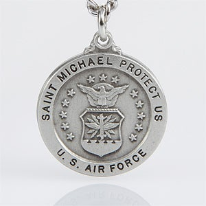 St. Michael Men's Military Pendant - Air Force
