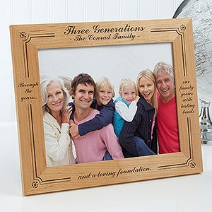 Personalized Wood Photo Frame Generations Of Family