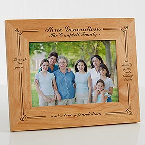 Family Generations Personalized Picture Frame 5x7 For Him