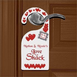 Do Not Disturb Romantic Couple's Door Hanger