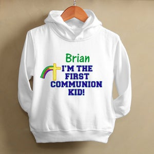 Personalization Mall First Communion Boy Personalized Kids Hooded Sweatshirts at Sears.com