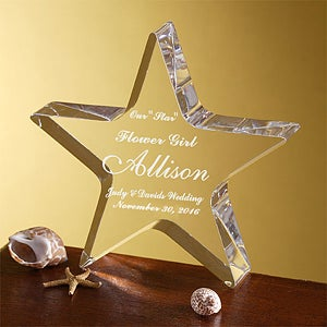 Personalized Star Award For Ring Bearer and Flower Girl - 3611