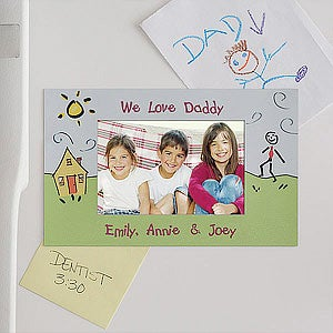 Personalized Photo Magnet Frame In Loving Them Design - 3638
