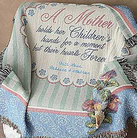 Personalized Tapestry Afghan for Mothers - 3643