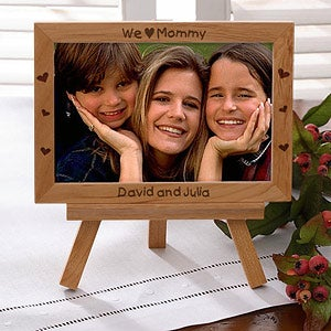 Personalized Wood Easel Picture Frame For Her - 3649