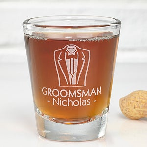 Personalized Wedding Party Shot Glass - 3656