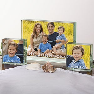 Personalized Glass Block Picture Frame Collection - 3670