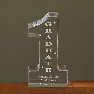 Personalized Graduation Sculpture - Number One Design - 3707