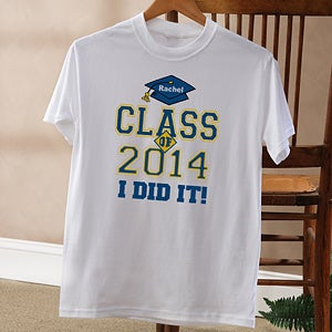Personalized Graduation Gifts - Cheers To The Graduate Shirts - 3775