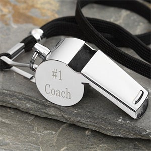 Personalized Stainless Steel Coach Whistle - 3778