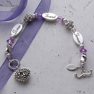 Personalization Mall Personalized Silver Bracelet Gift - Monogram Sister Friend Forever at Sears.com